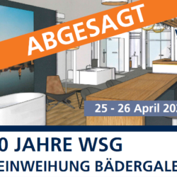WSG Banner Absage Einweihung Bädergalerie 2.0